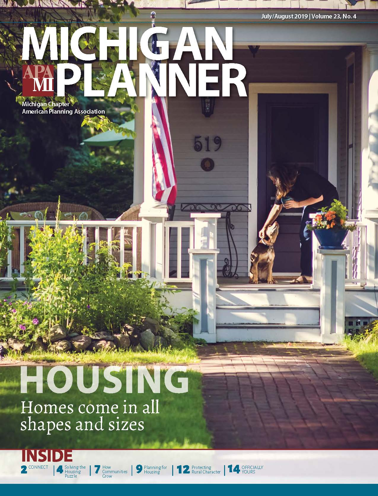 Michigan Planner Cover July August 2019